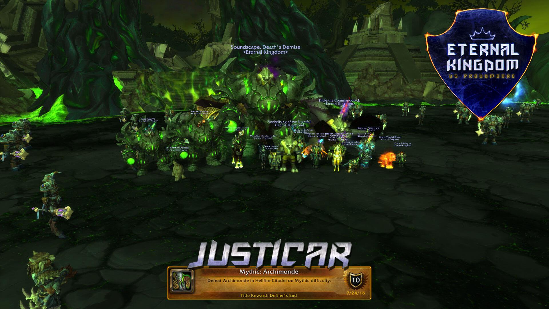 Justicar Team Defeats Mythic Archimonde