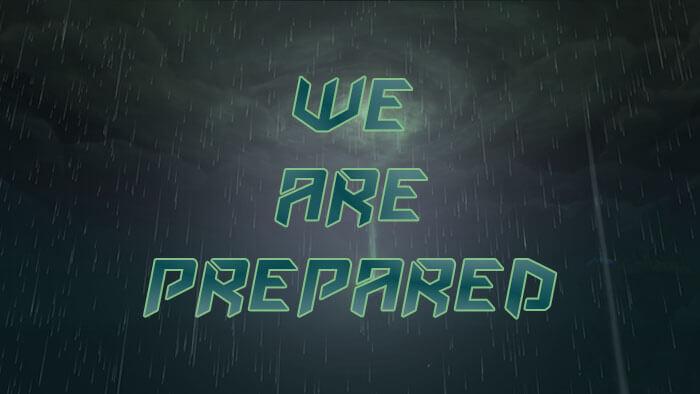 We are prepared