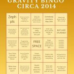 Gravity Bingo ca. 2014
